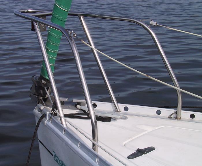 The Beneteau First 235 Four Leg Bow Pulpit Mod